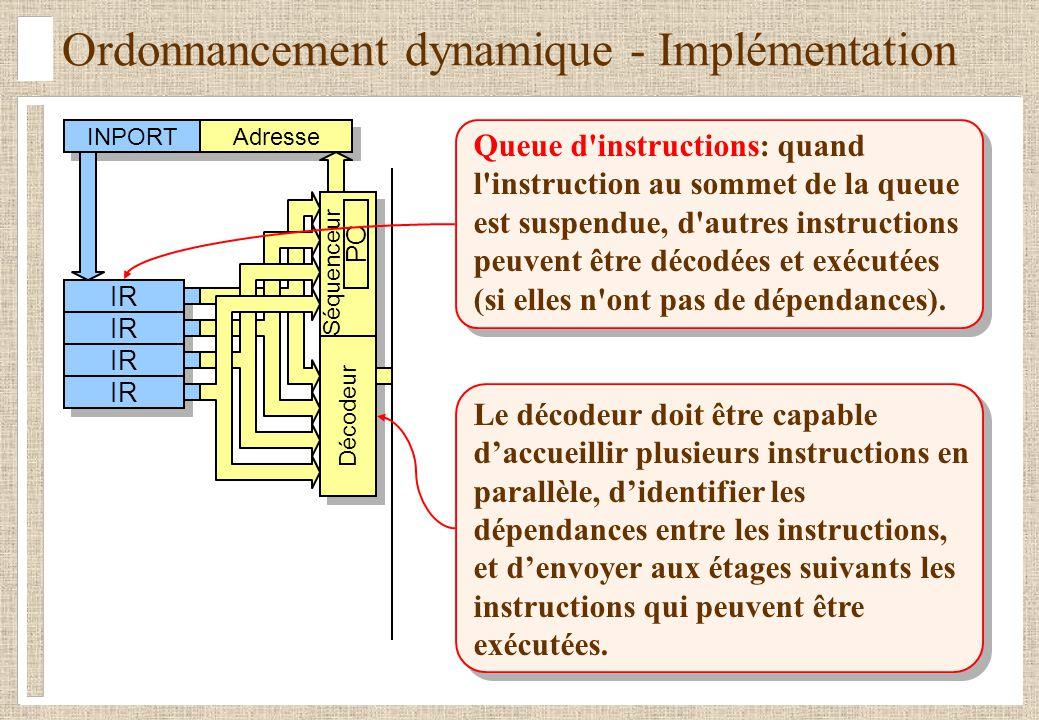 Ordonnancement dynamique - Implémentation