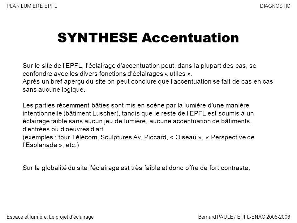 SYNTHESE Accentuation