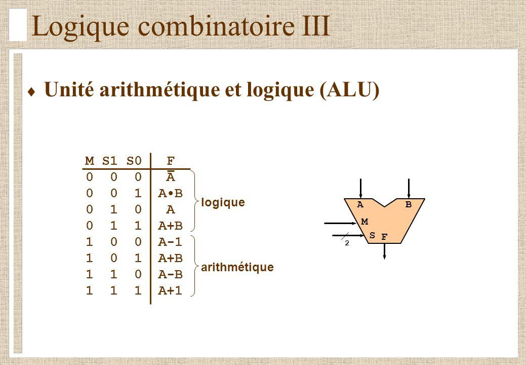 Logique combinatoire III