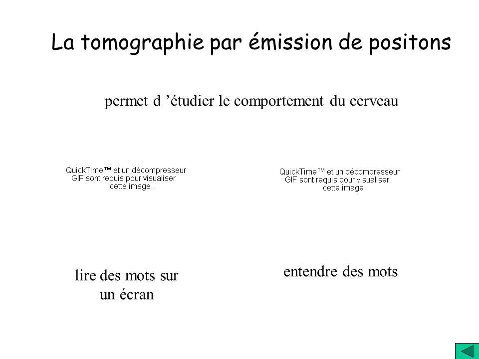 La tomographie par émission de positons