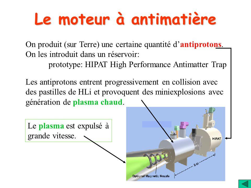 Le moteur à antimatière