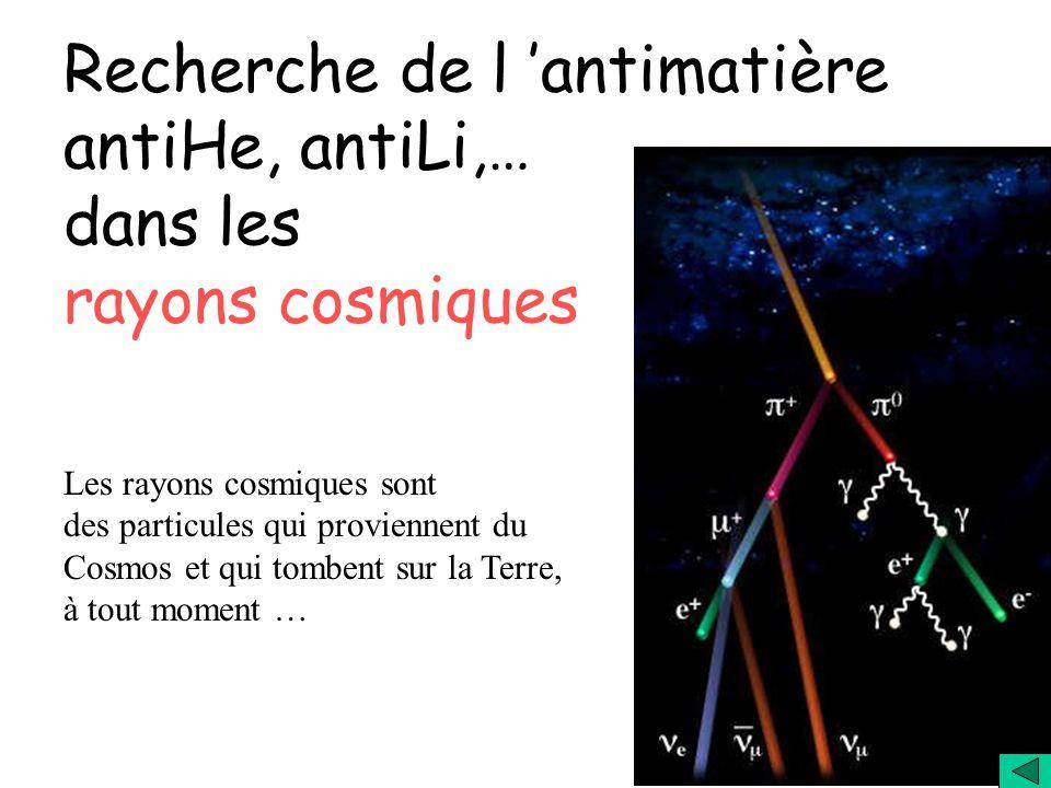 Recherche de l 'antimatière antiHe, antiLi,… dans les rayons cosmiques