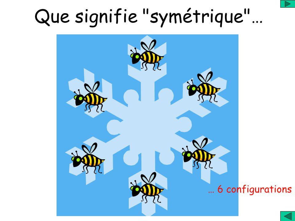 Que signifie symétrique …