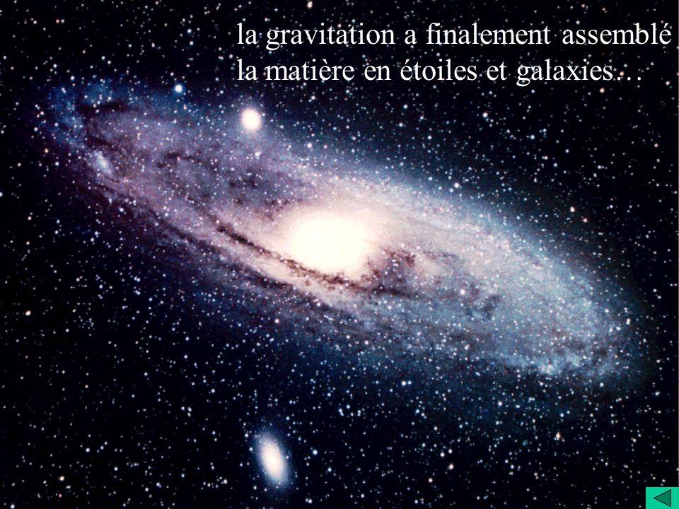 ! Zoom sur le Big Bang ! la gravitation a finalement assemblé