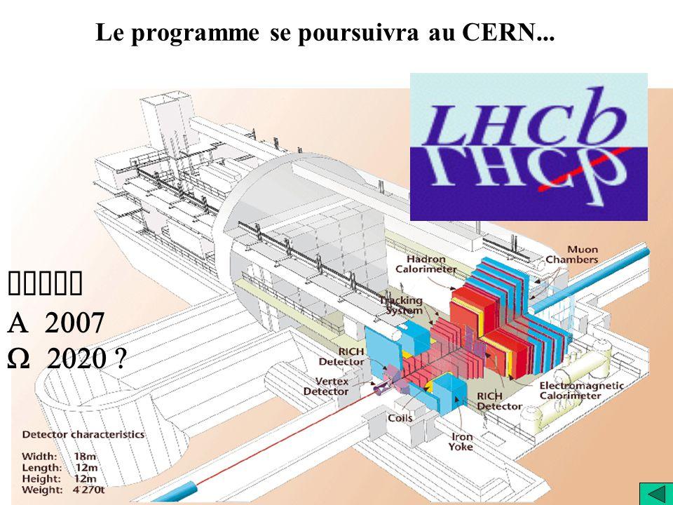 Le programme se poursuivra au CERN...