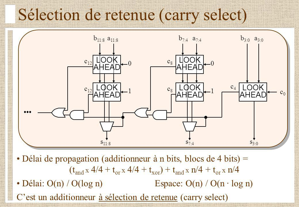 Sélection de retenue (carry select)