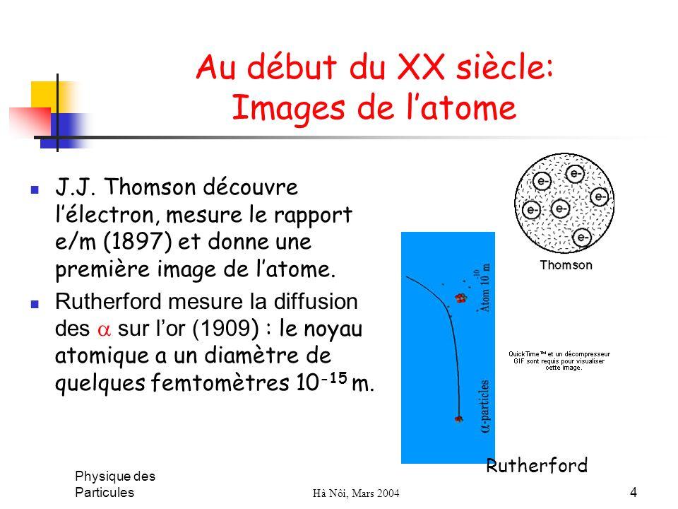 Au début du XX siècle: Images de l'atome