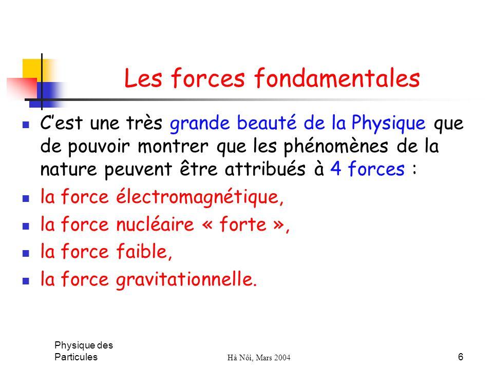 Les forces fondamentales