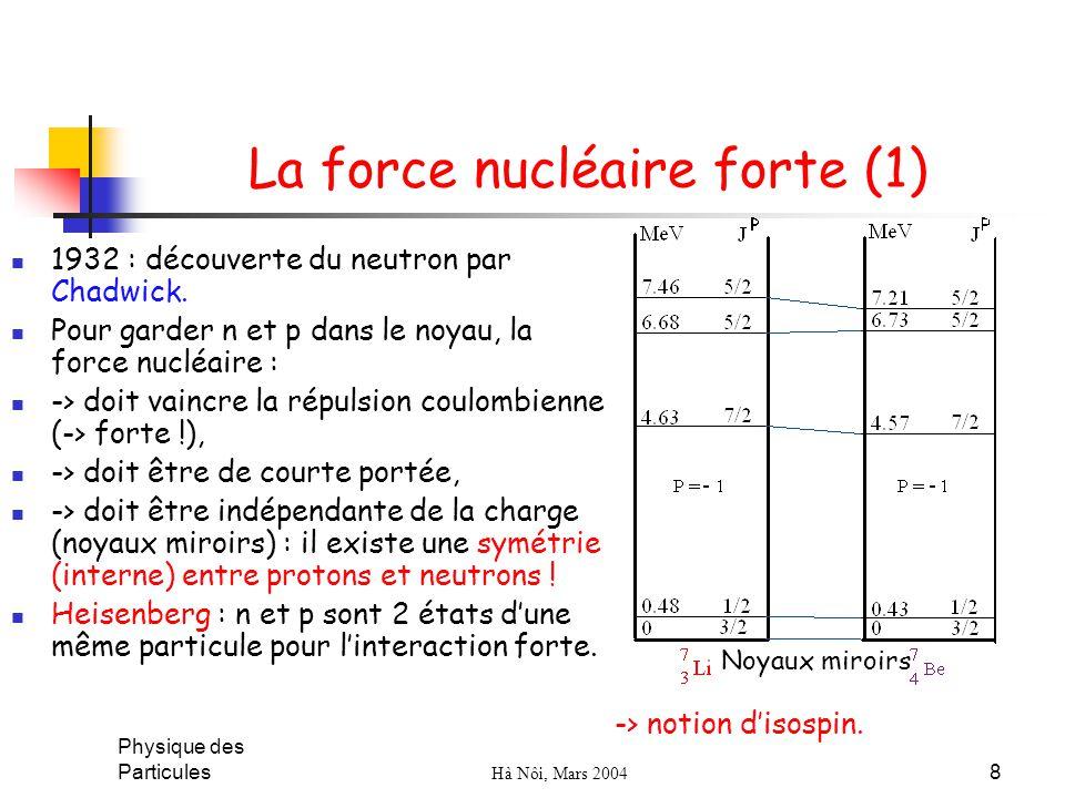 La force nucléaire forte (1)