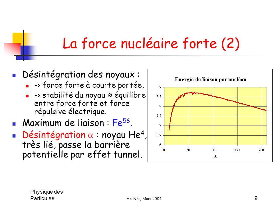 La force nucléaire forte (2)