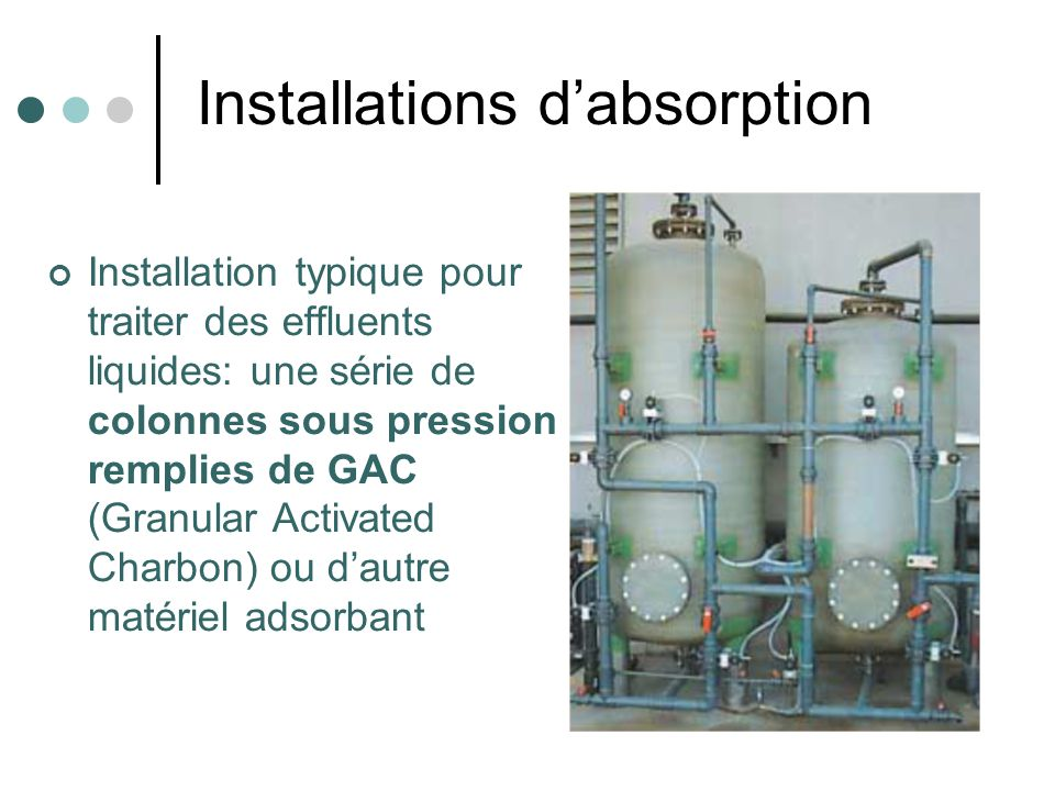 Installations d'absorption