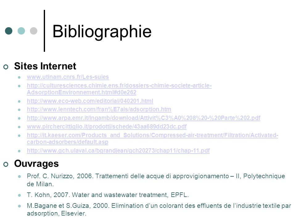 Bibliographie Sites Internet Ouvrages