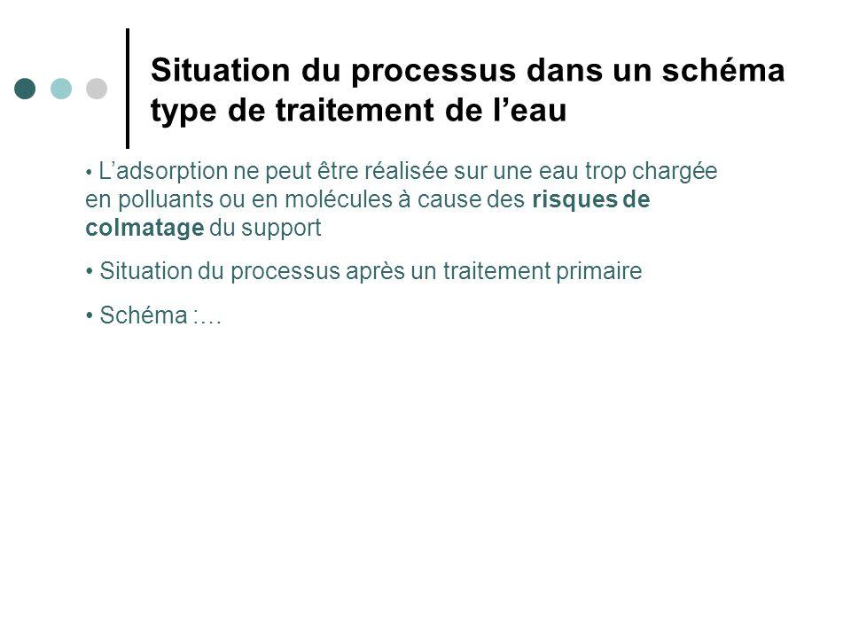 Situation du processus dans un schéma type de traitement de l'eau