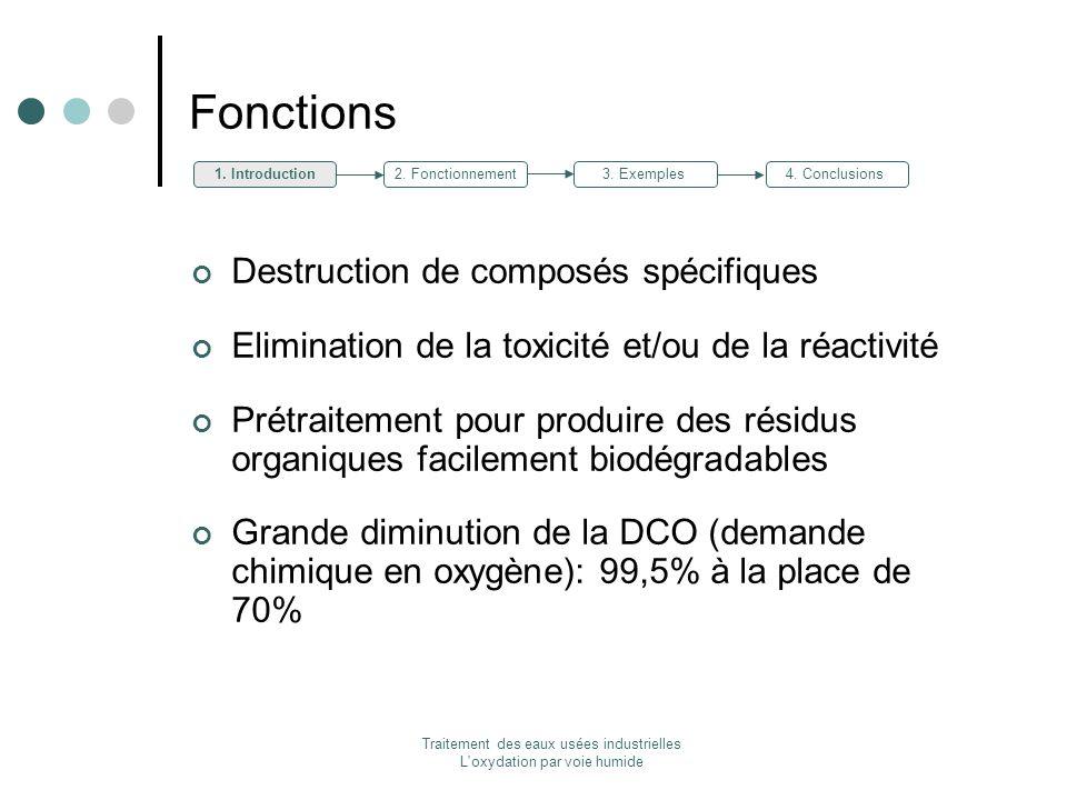 Traitement des eaux usées industrielles L oxydation par voie humide