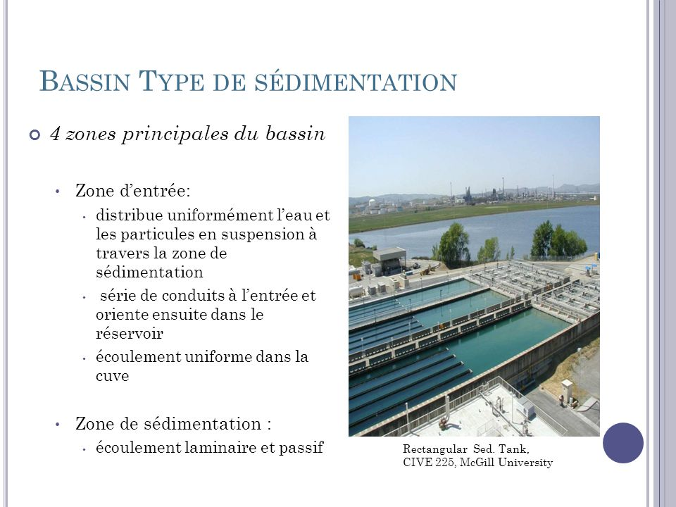Bassin Type de sédimentation