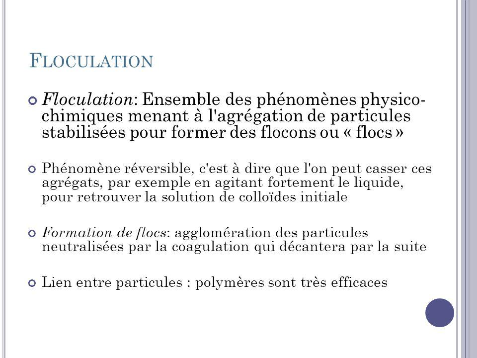 Floculation