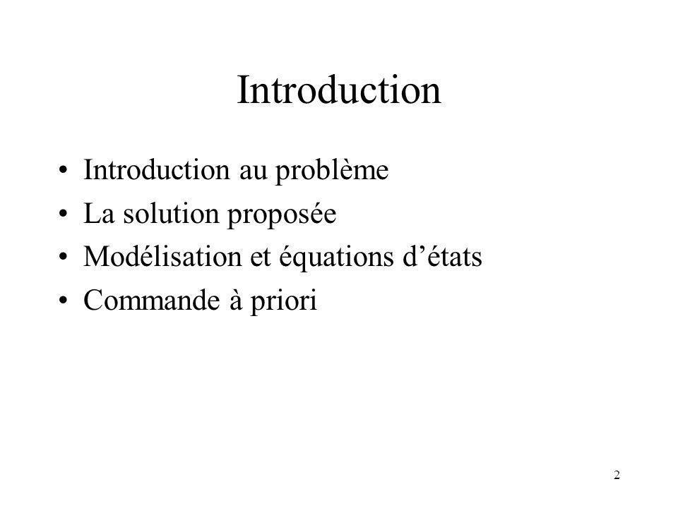 Introduction Introduction au problème La solution proposée