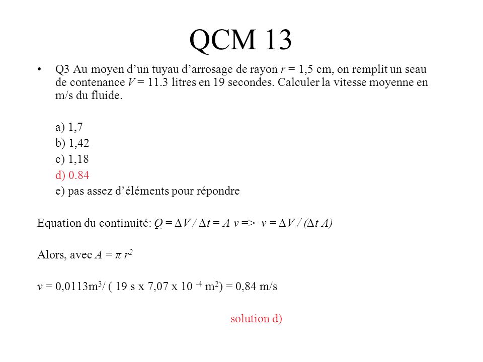 QCM 13