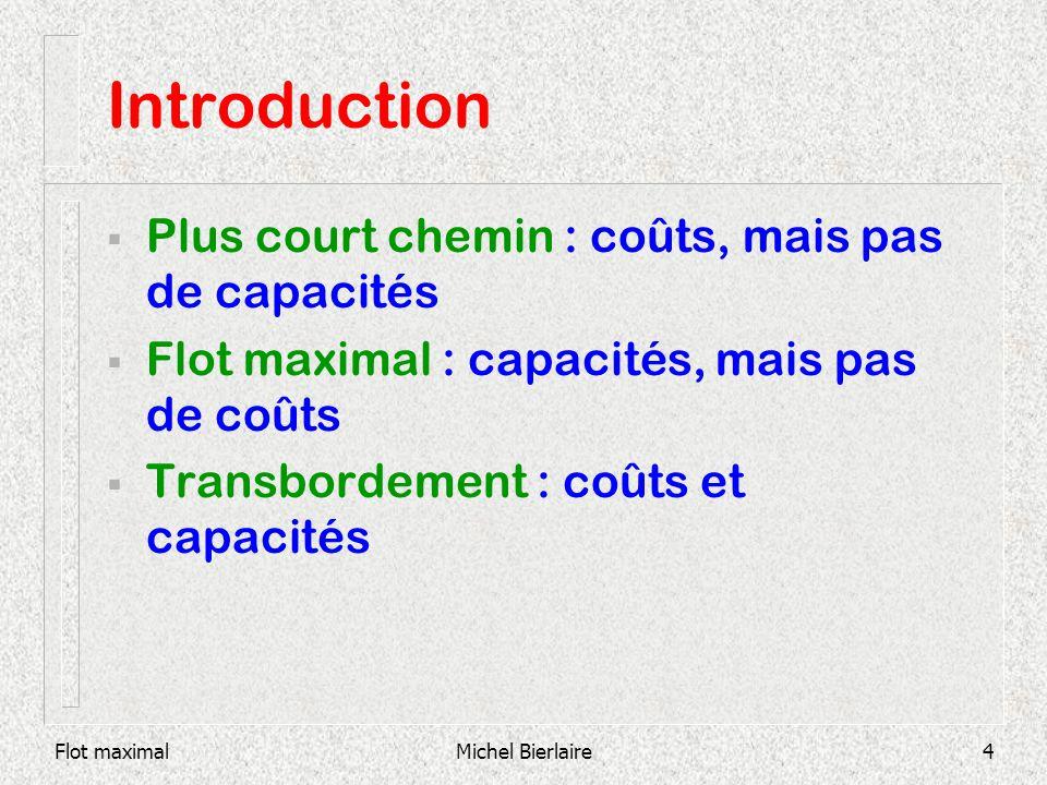 Introduction Plus court chemin : coûts, mais pas de capacités