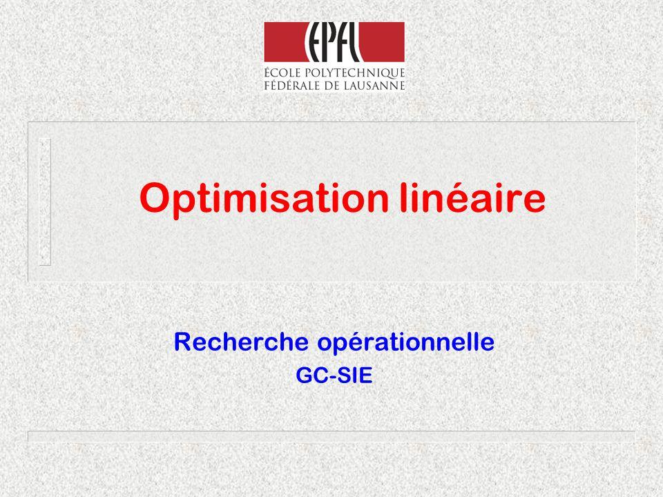 Optimisation linéaire