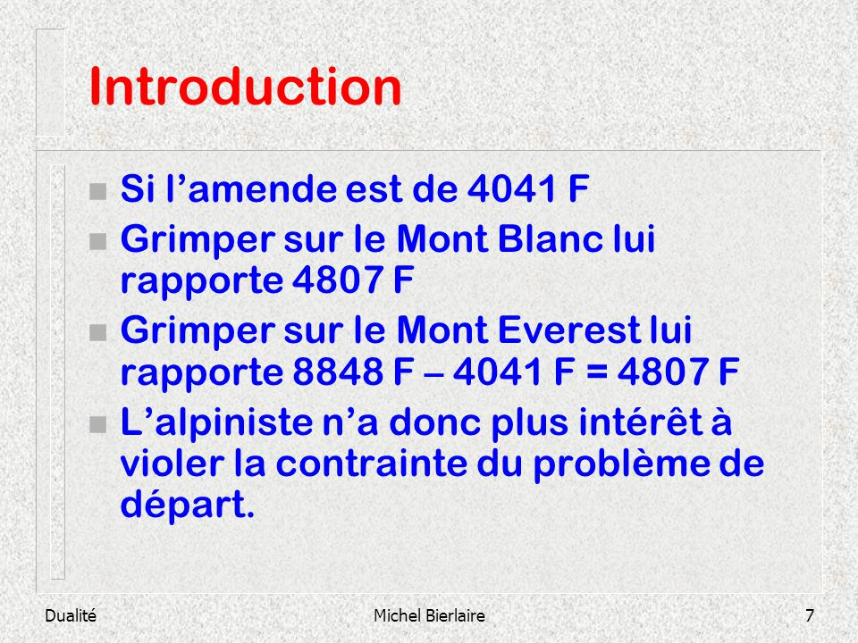 Introduction Si l'amende est de 4041 F