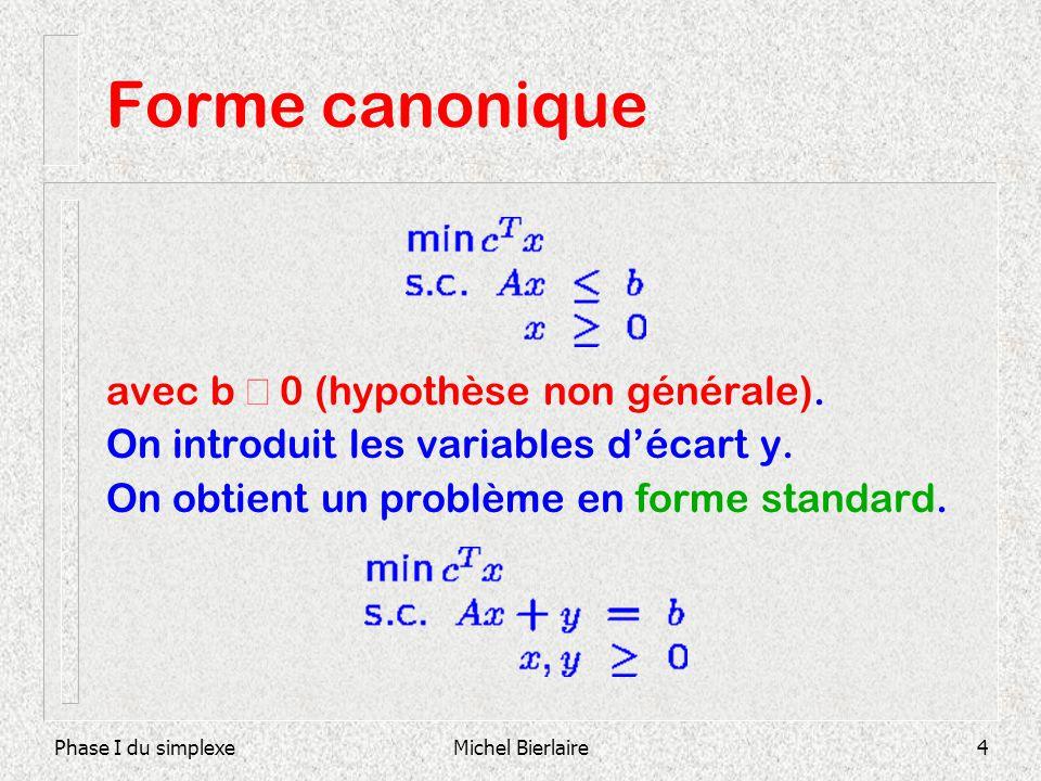 Forme canonique avec b ³ 0 (hypothèse non générale).