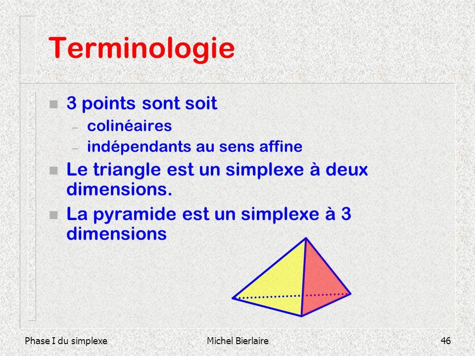 Terminologie 3 points sont soit