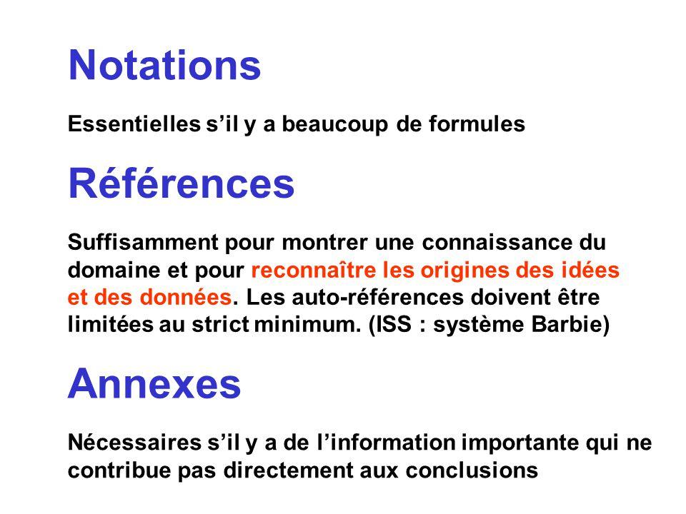 Notations Références Annexes