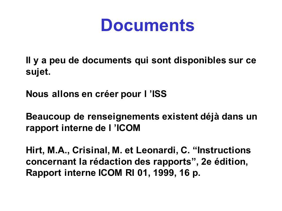 Documents Il y a peu de documents qui sont disponibles sur ce sujet.
