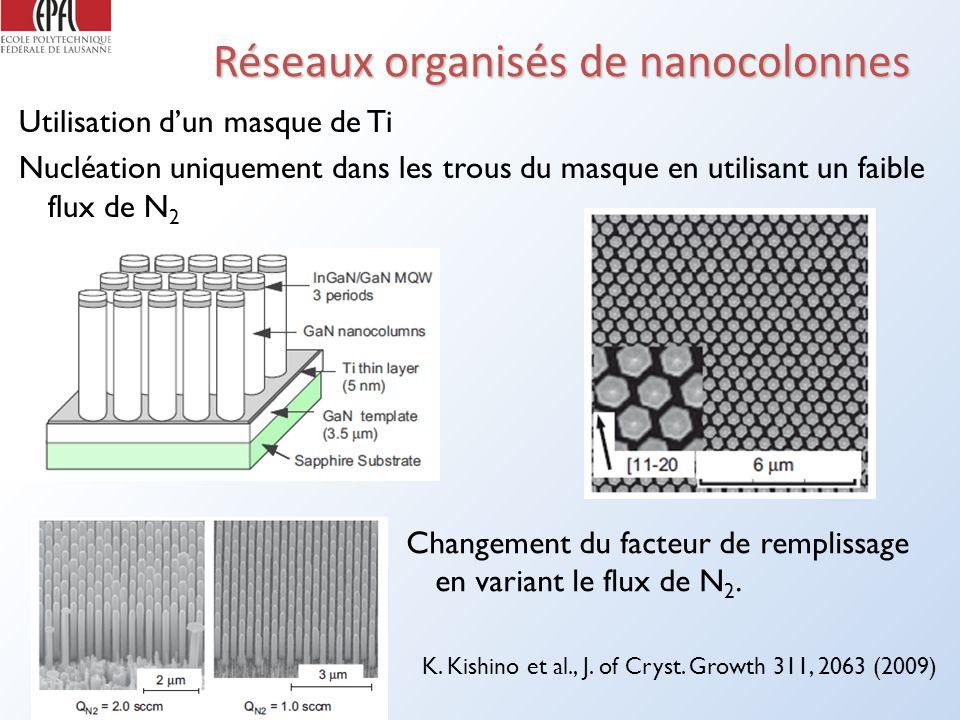 Réseaux organisés de nanocolonnes