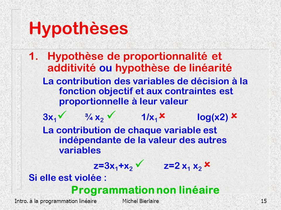 Programmation non linéaire