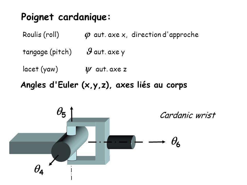 q5 q6 q4 Poignet cardanique: