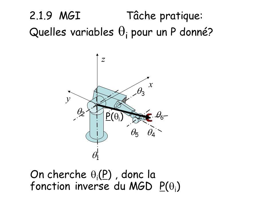 2.1.9 MGI Tâche pratique: Quelles variables qi pour un P donné