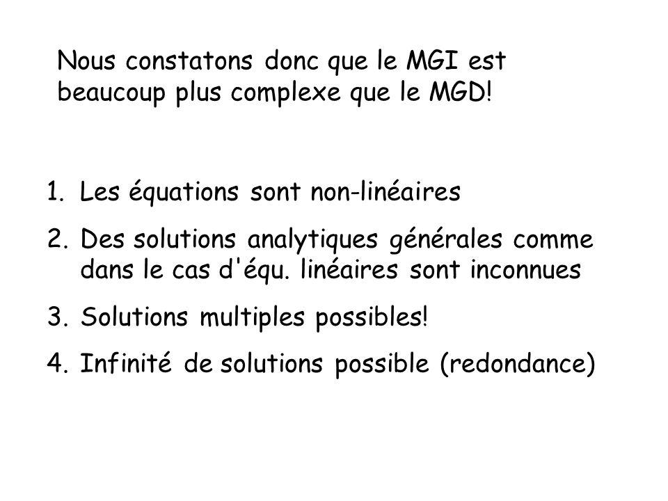 Nous constatons donc que le MGI est beaucoup plus complexe que le MGD!