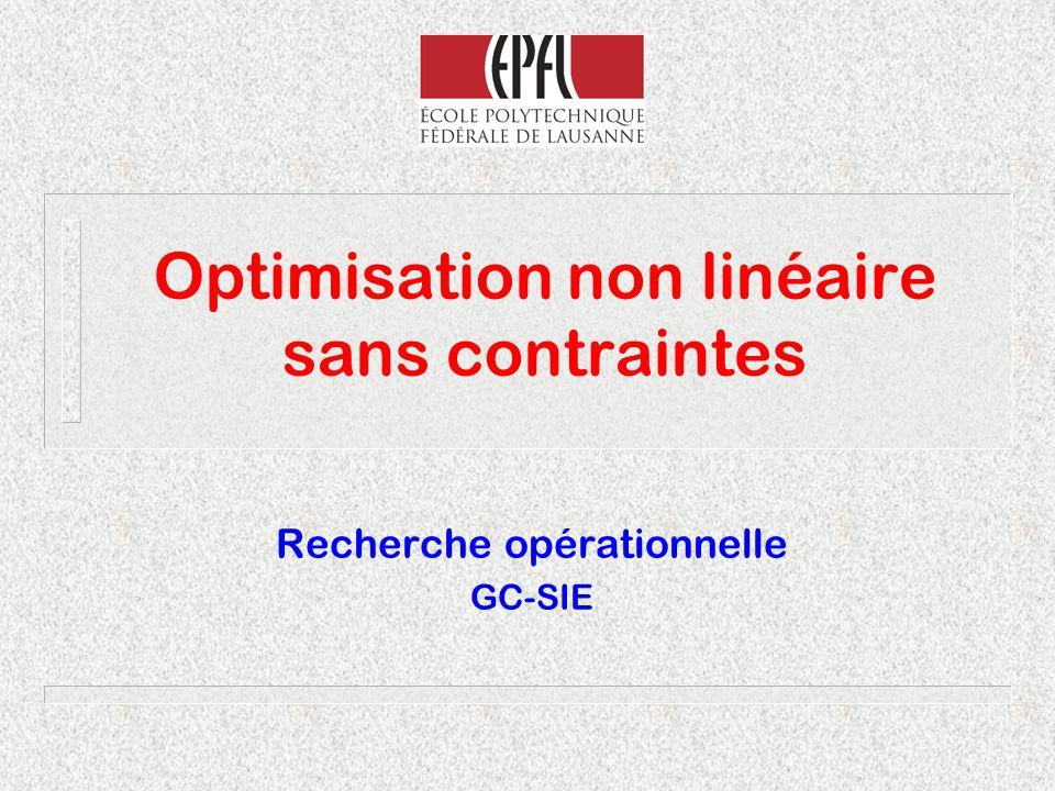 Optimisation non linéaire sans contraintes
