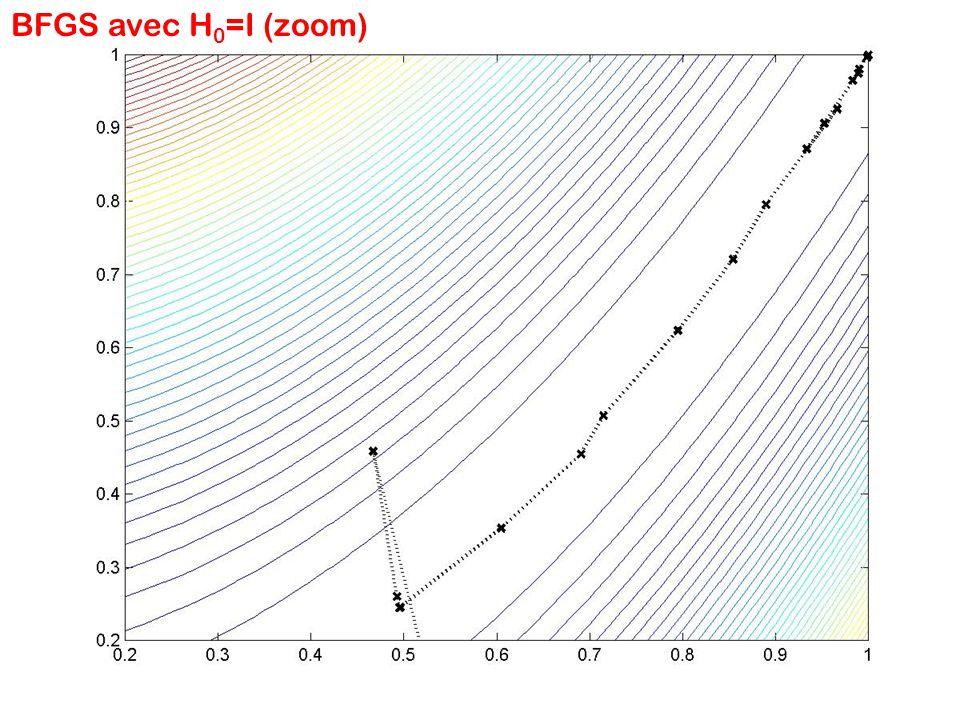 BFGS avec H0=I (zoom)