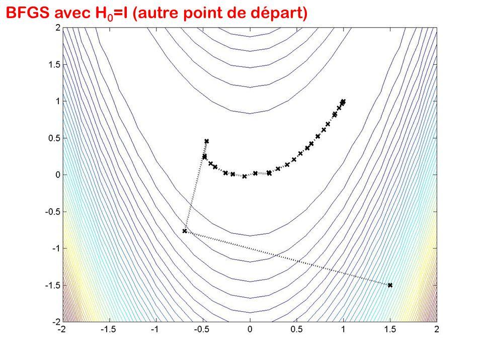BFGS avec H0=I (autre point de départ)