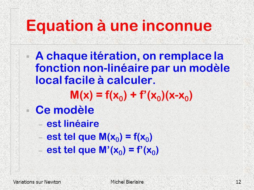 Equation à une inconnue