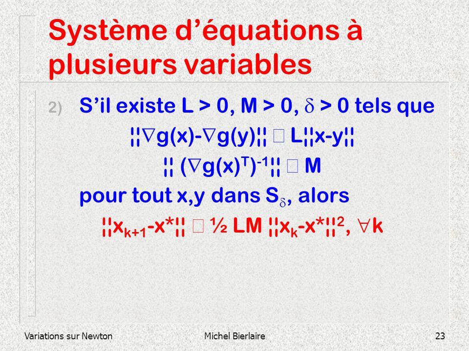 Système d'équations à plusieurs variables