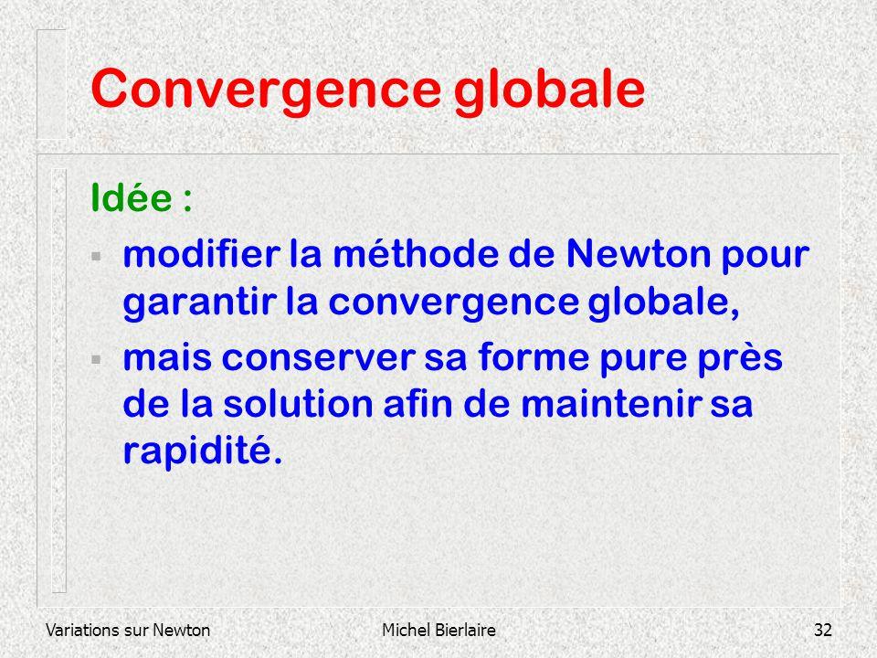 Convergence globale Idée :