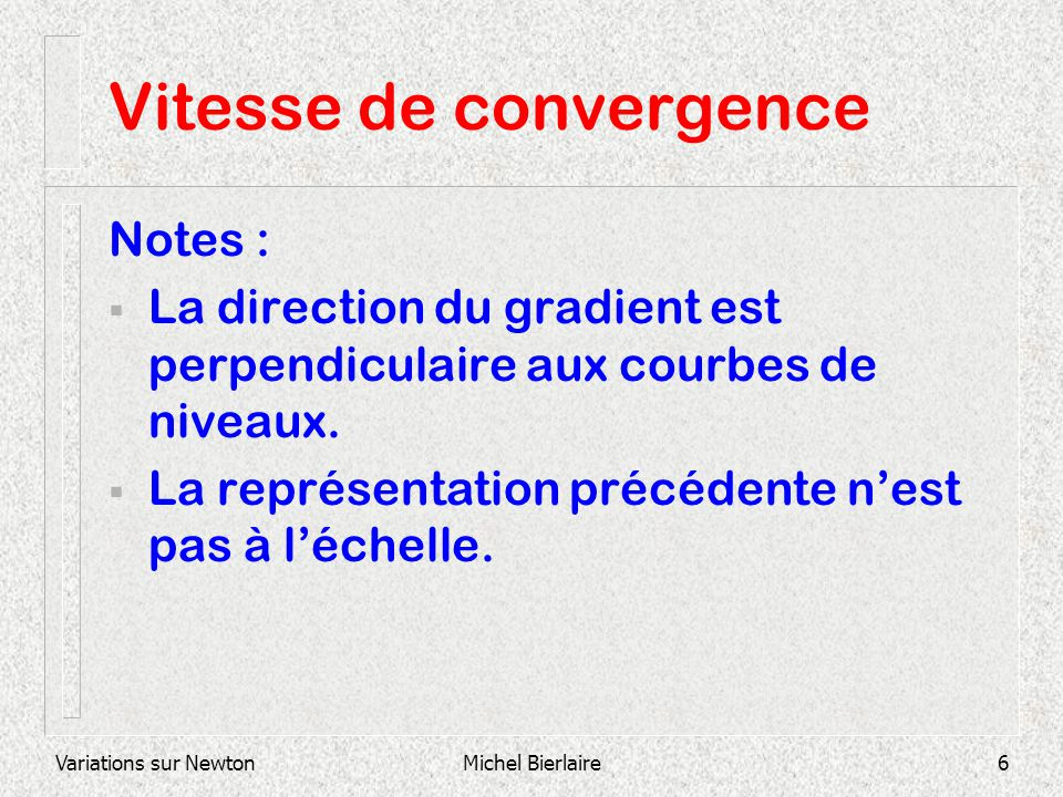 Vitesse de convergence
