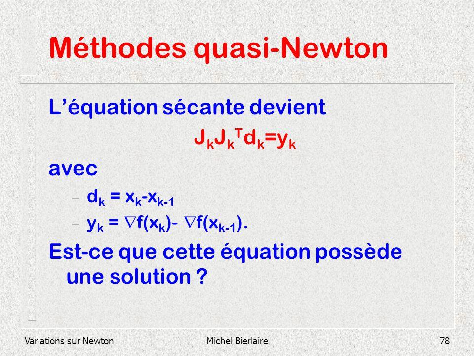 Méthodes quasi-Newton
