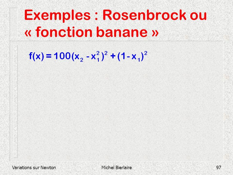 Exemples : Rosenbrock ou « fonction banane »