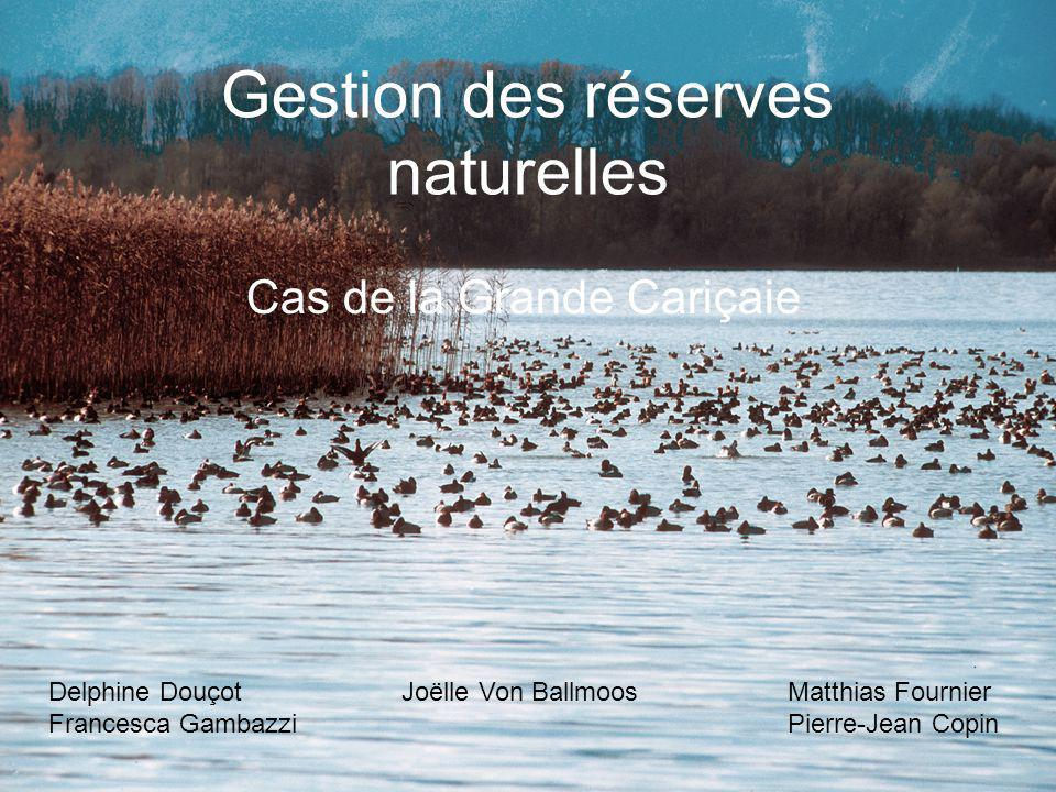 Gestion des réserves naturelles