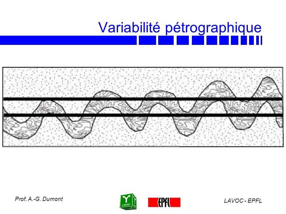 Variabilité pétrographique