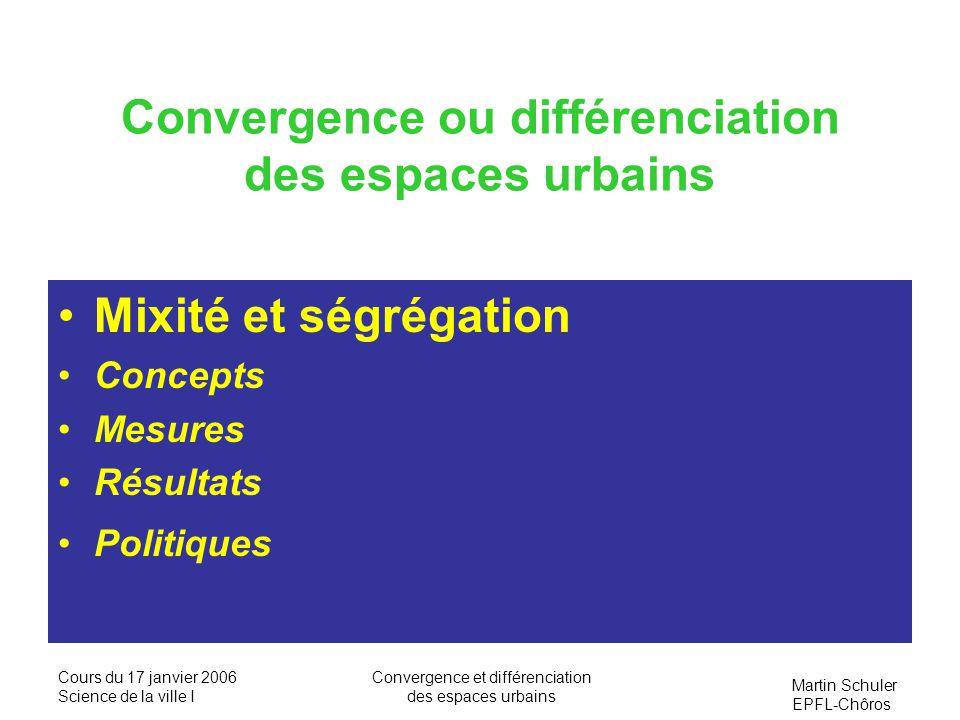 Convergence ou différenciation des espaces urbains