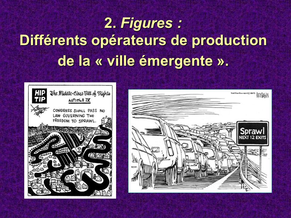 Différents opérateurs de production de la « ville émergente ».