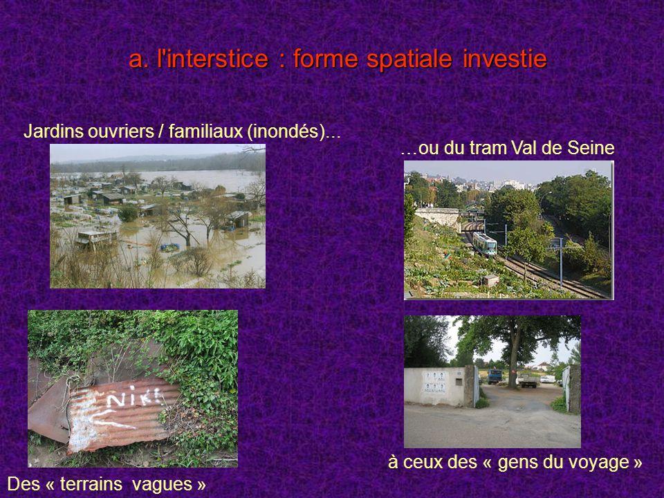 a. l interstice : forme spatiale investie