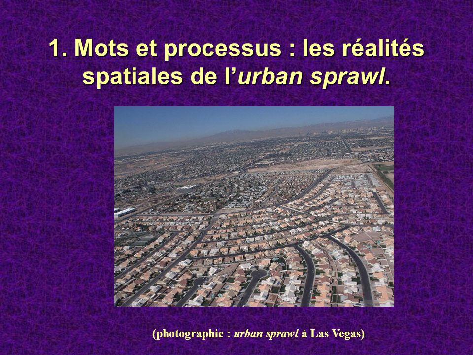 1. Mots et processus : les réalités spatiales de l'urban sprawl.