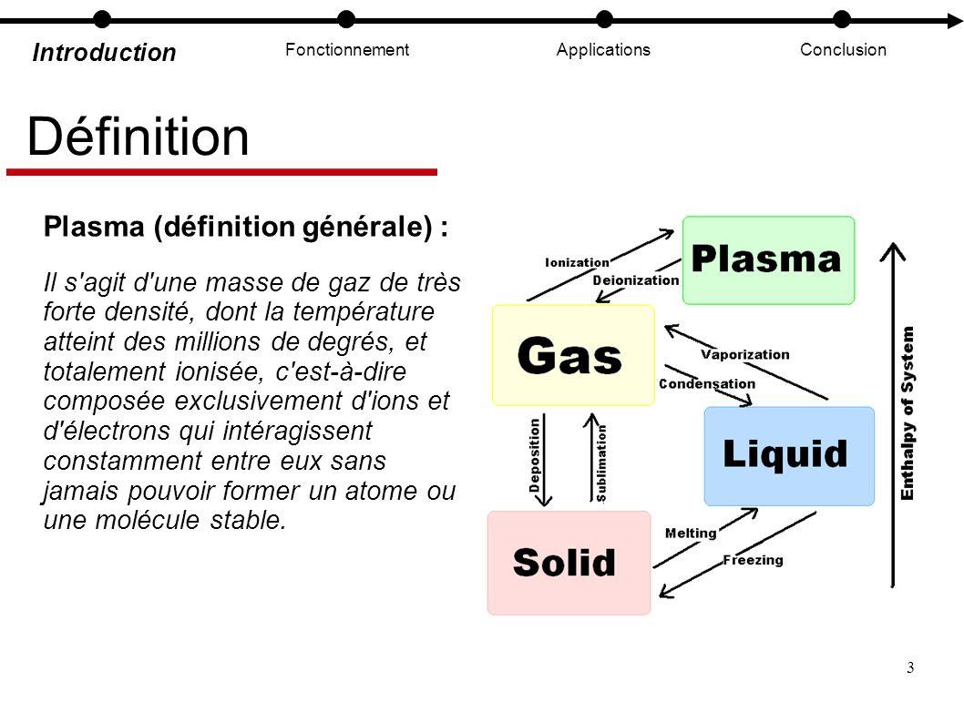 Définition Plasma (définition générale) :